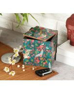 India Circus Flight of Cranes Square Storage Box