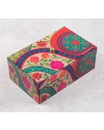 India Circus Floral Embroidery Enameled Storage Box