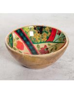 India Circus Floral Embroidery Serving Bowl