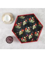 India Circus Floral Fascination Hexagon Serving Tray