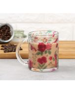 India Circus Floral Galore Glass Mug