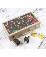 India Circus Floral Galore Leather Watch and Eyeware Box