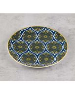 India Circus Floral Hypnosis Quarter Plate