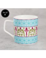 India Circus Floral Illusion Mug (Set of 6)
