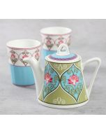India Circus Floral Illusion Tea Kettle Set