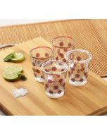India Circus Floral Lattice Shot Glass (Set of 4)