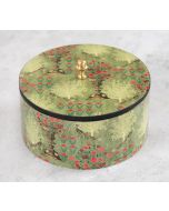 India Circus Floral Pillar Crest Round Storage Box