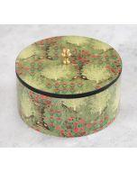 India Circus Floral Pillar Crest Round Storage Box