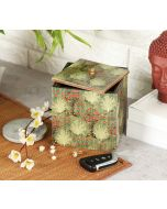India Circus Floral Pillar Crest Square Storage Box
