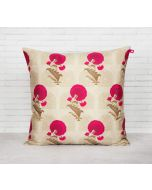 India Circus Flower Regalia Blended Taf Silk Cushion Cover