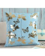 India Circus Fluttering Butterfly Foil Cushion Cover