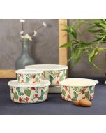 India Circus Fluttering Extravagance Bamboo Container Set