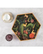 India Circus Forest Fetish Hexagon Serving Tray