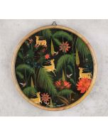 India Circus Forest Fetish Wooden Wall Plate