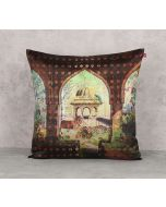 India Circus Gadisar View Satin Blend Cushion Cover