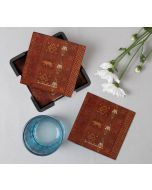 India Circus Geometrical Empress Table Coaster