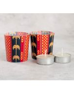 India Circus Geometrical Palmeria Tea Light Holder