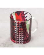 India Circus Geometrical Straps Glass Mug
