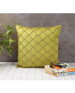 India Circus Gold Bead Olive Green Cushion Cover