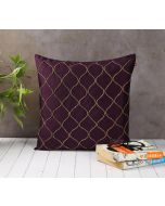 India Circus Gold Bead Purple Cushion Cover