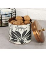 India Circus Grayscale Safari Storage Jar