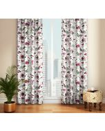 India Circus Grey Floral Galore Door Curtain