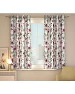 India Circus Grey Floral Galore Window Curtain