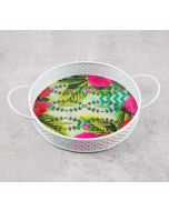 India Circus Herbs of Captivation Iron Serving Tray