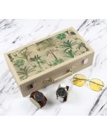 India Circus Heron's Garden Leather Watch and Eyeware Box