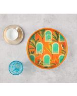 India Circus Heron's Palace Round Serving Tray
