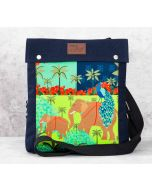 India Circus Indian Authenticity Sling Denim Backpack