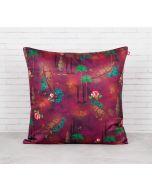 India Circus Jam Lake Florist Blended Velvet Cushion Cover