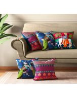India Circus Krishna Baugh Cushion Cover Set of 5