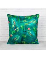 India Circus Lake Florist Blended Velvet Cushion Cover
