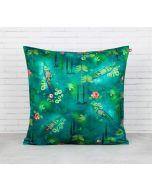 India Circus Lake Florist Blended Velvet Cushion Cover