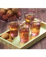 India Circus Lattice Louts Chai Glass (Set of 4)