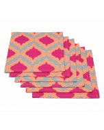 India Circus Lattice Practice Cocktail Napkins Set of 6