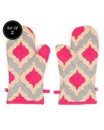 India Circus Lattice Practice Oven Mitts