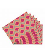 India Circus Lattice Practice Table Mat Set of 6