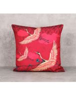 India Circus Legend Of The Cranes Canvas Blend 16 x 16 Cushion Cover