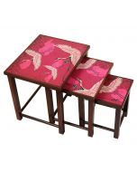 India Circus Legend of the Cranes Nested Table