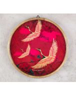 India Circus Legend of the Cranes Wooden Wall Plate