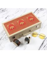 India Circus Lotus Darbar Leather Watch and Eyeware Box