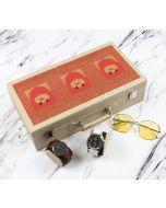 India Circus Lotus Darbar Leather Watch and Eyeware Box