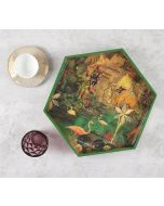 India Circus Mapping Animals Hexagon Serving Tray