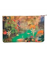 India Circus Mapping Animals Makeup Pouch
