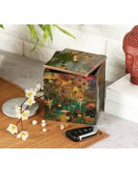 India Circus Mapping Animals Square Storage Box