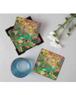 India Circus Mapping Animals Table Coaster Set of 6
