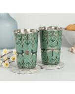 India Circus Mirroring Deer Garden Steel Tumbler (Set of 2)