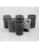 India Circus Monochrome Monologue Moroccan Glasses Set of 6